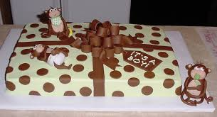 monkey baby shower sheet cakes home party theme ideas