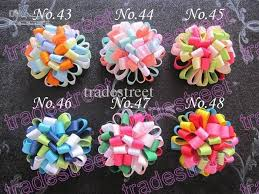 loopy bow loopy puff flower loopy hair bows baby hair bow ponytial
