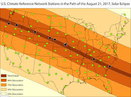 Oregon Drought Map by Climate Network Observes The Great American Eclipse National