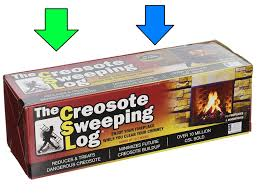creosote sweeping log for fireplaces pack of 2 ebay