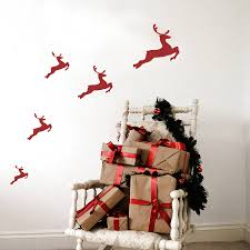 Christmas Wall Pictures by Christmas Reindeer Wall Stickers By Leonora Hammond