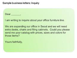 sample business letters inquiry ppt video online download