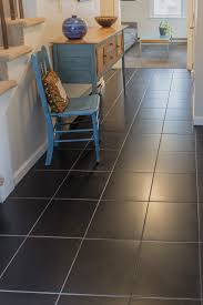 Laminate Flooring Portland Portland Condo Living Hallway Square Porcelain Tile Black