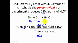 stoichiometry percent yield stoichiometry problems clear