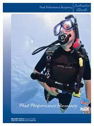 peak performance buoyancy scuba diving buoyancy