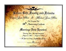 sacred golden shimmer u0027 marriage vow renewal certificate