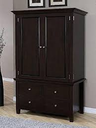 Wardrobe Cabinet With Shelves Amazon Com Armoire Wood 4 Drawer Wardrobe Closet Tv Cabinet
