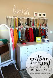 jewelry and scarf organizer a and a glue gun