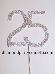 25 cake topper rhinestone number 25 cake 25th anniversary topper