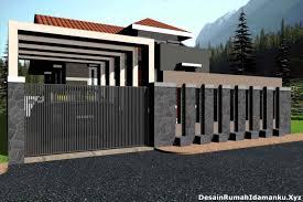 pagar rumah mewah cat dshdesignkinfo desain minimalis kayu dan