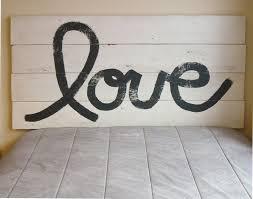 love rustic headboard barn wood style handmade in chicago