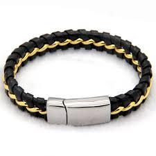 mens clasp bracelet images Unique designer 316l stainless steel bracelets bangles mens gift jpg