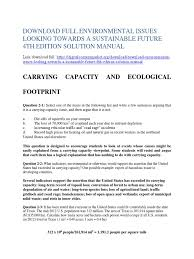 solution manual for environmental issues looking towards a
