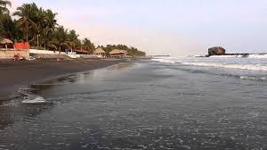beaches with black sand black sand el tunco beach el salvador youtube
