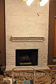 awesome how to paint a fireplace on how to paint a brick fireplace