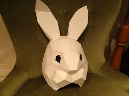 bunny mask pdf pattern make your own rabbit mask bunny mask paper