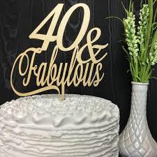 40 cake topper 40th birthday cake topper 40 fabulous cake topper glitter cake