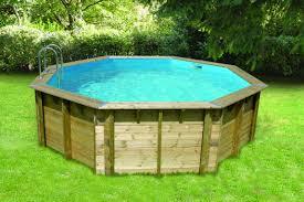 piscine bois nortland ubbink ocea ronde en kit 580x130 cm