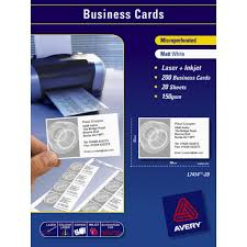 Avery Invitation Cards Avery Business Cards White 20 Sheets 10 Per Page Officeworks