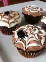 the art of comfort baking halloween spider web cupcakes