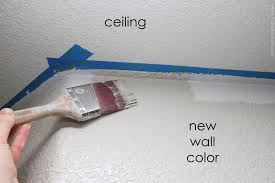 home improvement painting a straight line on textured walls a