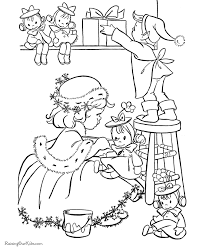 free coloring pages elves coloring