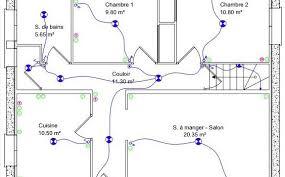 schema electrique chambre exceptionnel schema installation electrique maison neuve 1