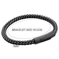 bracelet man images Mcllroy titanium steel tube bar men genuine cow leather bracelets jpg