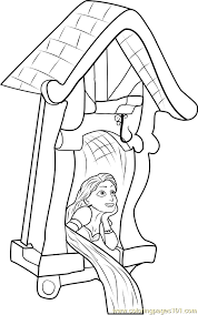 rapunzel castle coloring free tangled coloring pages