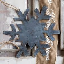 galvanized snowflake ornament a cottage in the city