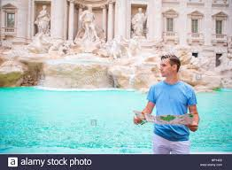 Vatican City Map Happy Young Man With City Map In Vatican City And St Peter U0027s