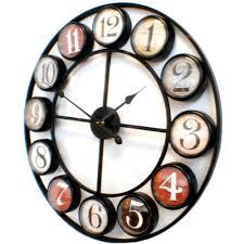 cool wall clock black plastic 12 x 2 x 12 inch cool wall clock