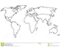World Blank Map by World Continents Map Vector Outline Map 36016831 Jpg