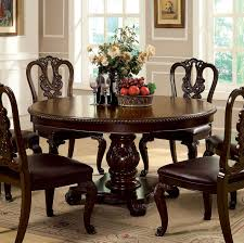 incredible round cherry wood dining table including elegant