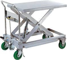 stainless steel scissor lift carts