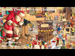 santa u0027s elves at work for christmas royalty free music by marco