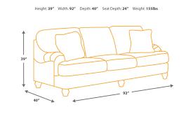 shallow seat depth sofa harahan sofa ashley furniture homestore