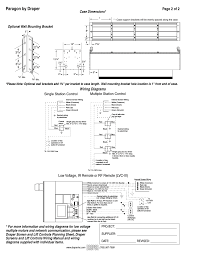 paragon by draper page 2 of 2 wiring diagrams draper paragon