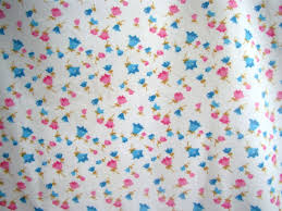 Baby Nursery Fabric 6 5 Yards Of Vintage Baby Flannel Fabric Pink Blue Flower