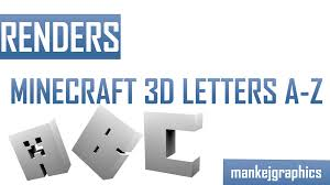 minecraft 3d letters a z by mankej on deviantart