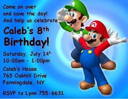 super mario brothers personalized birthday thenotecardlady