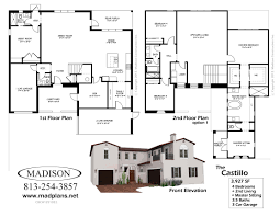 auto floor plan companies madison homes the castillofloor plans