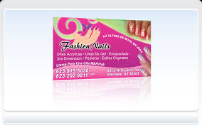 business cards pronto fashion nails