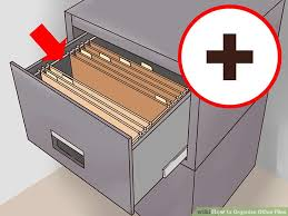 how to organize a file cabinet system 3 ways to organize office files wikihow