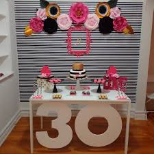 30th birthday decorations kate spade 30th birthday inspired decoration with paper flowers