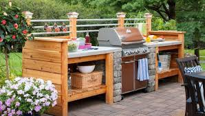 inexpensive outdoor kitchen ideas waterproof outdoor kitchen cabinets ismaya design