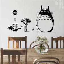 Totoro Home Decor by Dragon And Cat Wall Stickers For Kids Fashion Rooms Home