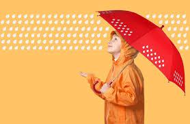 colour change umbrella changes to bright colours when wet