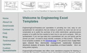 Engineering Excel Templates Engineeringexceltemplates Com Website Engineering Excel Templates