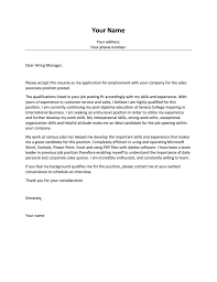 sales representative cover letter no experience job and resume